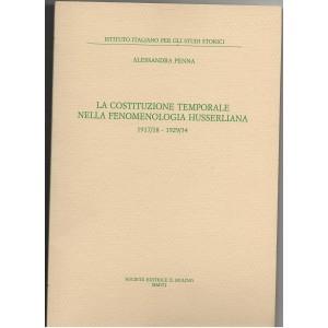 La costituzione temporale nella fenomenologia husserliana